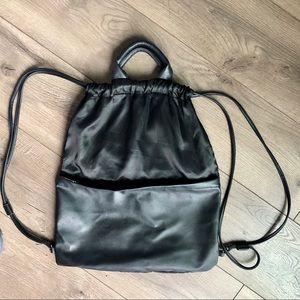 Cropp black drawstring backpack cute comfy big